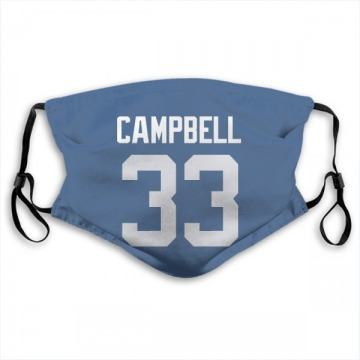 Indianapolis Colts Ibraheim Campbell Royal Jersey Name & Number Face Mask