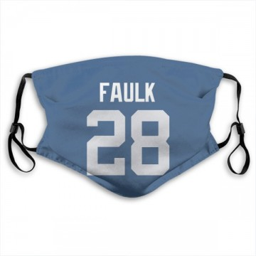 Indianapolis Colts Marshall Faulk Royal Jersey Name & Number Face Mask