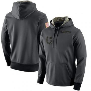 Men's Indianapolis Colts Anthracite Salute to Service Player Performance Hoodie -