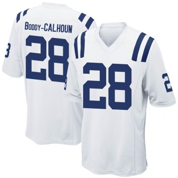 Men's Nike Indianapolis Colts Briean Boddy-Calhoun White Jersey - Game
