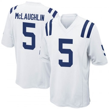 Men's Nike Indianapolis Colts Chase McLaughlin White Jersey - Game