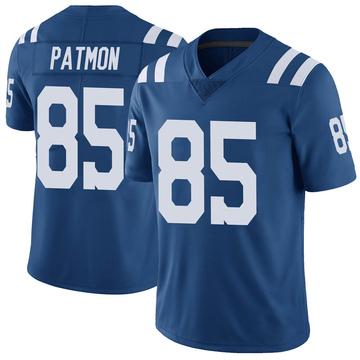 Men's Indianapolis Colts Dezmon Patmon Royal Color Rush Vapor Untouchable Jersey - Limited