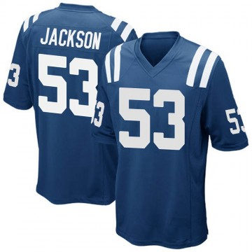 Men's Nike Indianapolis Colts Edwin Jackson Royal Blue Team Color Jersey - Game