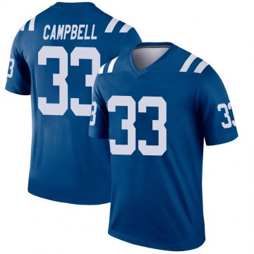 Men's Nike Indianapolis Colts Ibraheim Campbell Royal Jersey - Legend