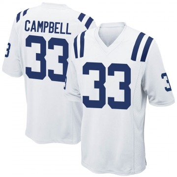 Men's Nike Indianapolis Colts Ibraheim Campbell White Jersey - Game