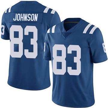 Men's Nike Indianapolis Colts Marcus Johnson Royal Team Color Vapor Untouchable Jersey - Limited