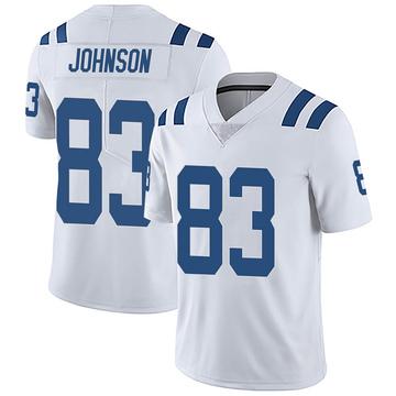 Men's Nike Indianapolis Colts Marcus Johnson White Vapor Untouchable Jersey - Limited