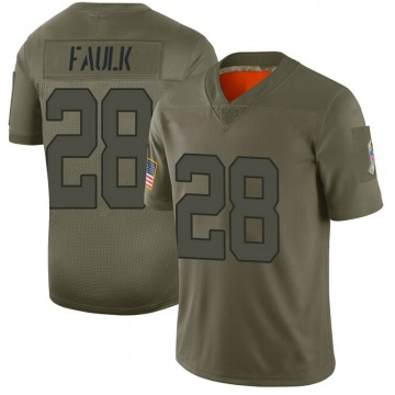 Men's Nike Indianapolis Colts Marshall Faulk Camo 2019 Salute to Service Jersey - Limited