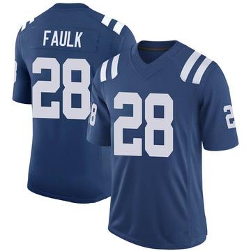 Men's Nike Indianapolis Colts Marshall Faulk Royal 100th Vapor Jersey - Limited