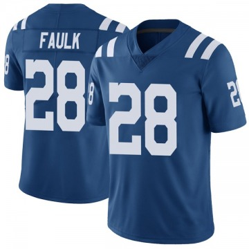 Men's Nike Indianapolis Colts Marshall Faulk Royal Color Rush Vapor Untouchable Jersey - Limited