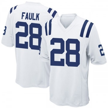Men's Nike Indianapolis Colts Marshall Faulk White Jersey - Game
