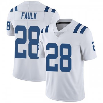Men's Nike Indianapolis Colts Marshall Faulk White Vapor Untouchable Jersey - Limited