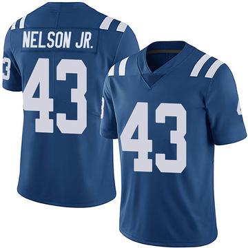 Men's Nike Indianapolis Colts Picasso Nelson Jr. Royal Team Color Vapor Untouchable Jersey - Limited