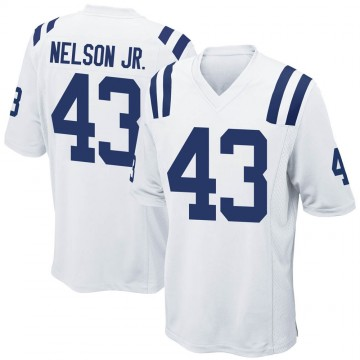 Men's Nike Indianapolis Colts Picasso Nelson Jr. White Jersey - Game