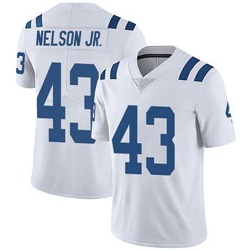 Men's Nike Indianapolis Colts Picasso Nelson Jr. White Vapor Untouchable Jersey - Limited