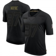 Men's Nike Indianapolis Colts Reggie Wayne Black 2020 Salute To Service Jersey - Limited