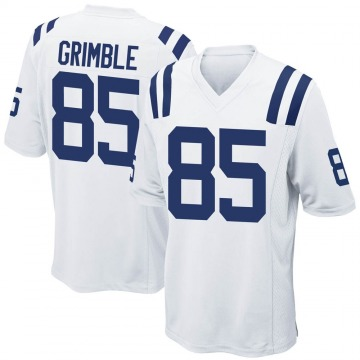 Men's Nike Indianapolis Colts Xavier Grimble White Jersey - Game