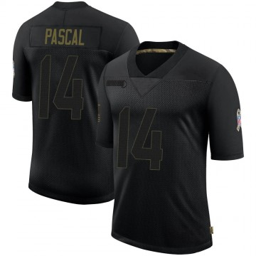 Men's Indianapolis Colts Zach Pascal Black 2020 Salute To Service Jersey - Limited