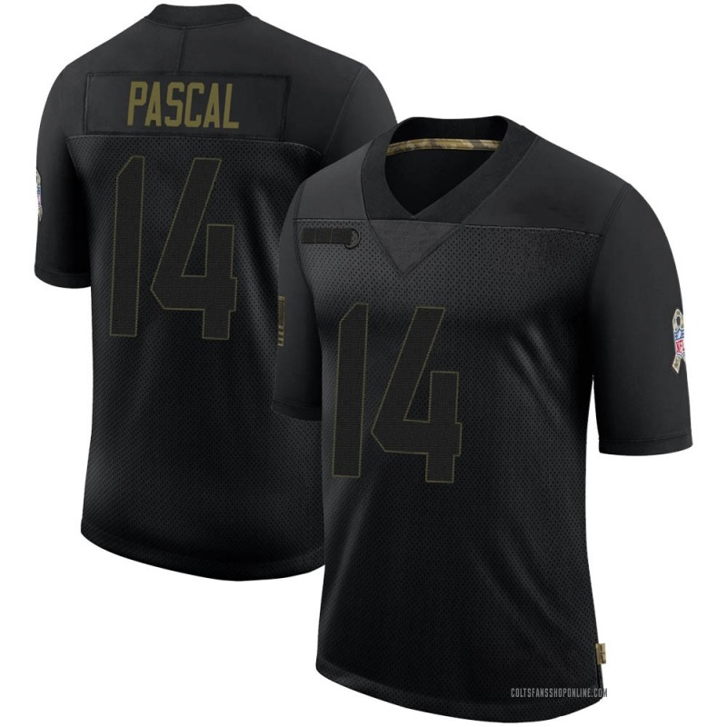 Men's Nike Indianapolis Colts Zach Pascal Black 2020 Salute To Service Jersey - Limited