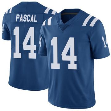 Men's Indianapolis Colts Zach Pascal Royal Color Rush Vapor Untouchable Jersey - Limited