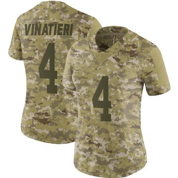 Women's Nike Indianapolis Colts Adam Vinatieri Camo 2018 Salute to Service Jersey - Limited