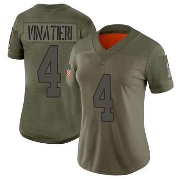 Women's Nike Indianapolis Colts Adam Vinatieri Camo 2019 Salute to Service Jersey - Limited