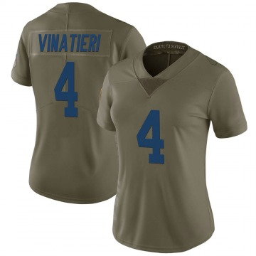 Women's Nike Indianapolis Colts Adam Vinatieri Green 2017 Salute to Service Jersey - Limited