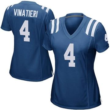 Women's Nike Indianapolis Colts Adam Vinatieri Royal Blue Team Color Jersey - Game