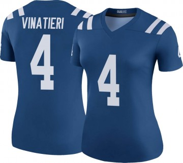 Women's Nike Indianapolis Colts Adam Vinatieri Royal Color Rush Jersey - Legend