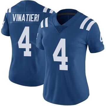 Women's Nike Indianapolis Colts Adam Vinatieri Royal Color Rush Vapor Untouchable Jersey - Limited