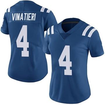 Women's Nike Indianapolis Colts Adam Vinatieri Royal Team Color Vapor Untouchable Jersey - Limited