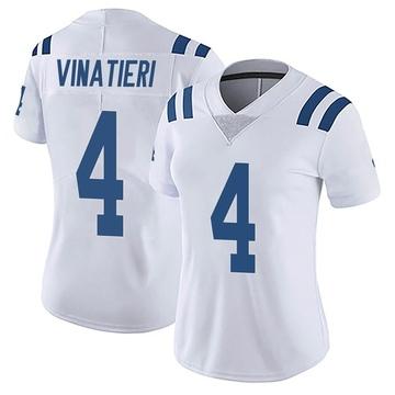 Women's Nike Indianapolis Colts Adam Vinatieri White Vapor Untouchable Jersey - Limited