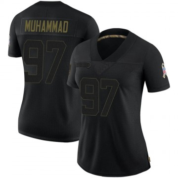 Women's Nike Indianapolis Colts Al-Quadin Muhammad Black 2020 Salute To Service Jersey - Limited