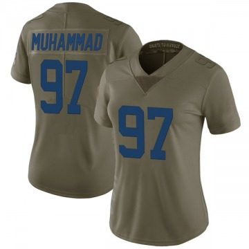 Women's Nike Indianapolis Colts Al-Quadin Muhammad Green 2017 Salute to Service Jersey - Limited