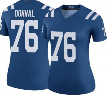Women's Nike Indianapolis Colts Andrew Donnal Royal Color Rush Jersey - Legend