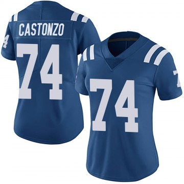 Women's Nike Indianapolis Colts Anthony Castonzo Royal Team Color Vapor Untouchable Jersey - Limited