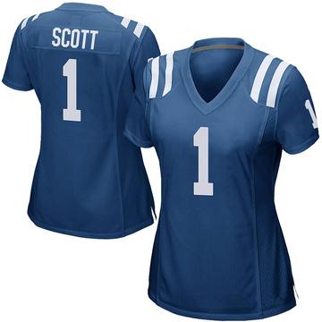 Women's Nike Indianapolis Colts Artavis Scott Royal Blue Team Color Jersey - Game