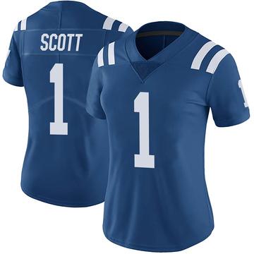 Women's Nike Indianapolis Colts Artavis Scott Royal Color Rush Vapor Untouchable Jersey - Limited