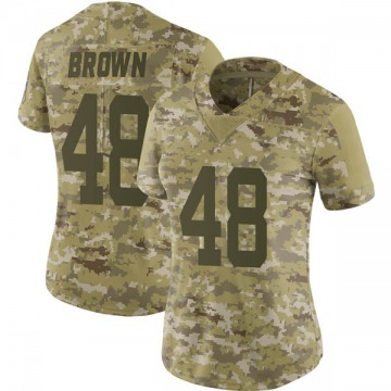 Women's Nike Indianapolis Colts Billy Brown Brown Camo 2018 Salute to Service Jersey - Limited