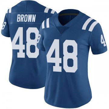 Women's Nike Indianapolis Colts Billy Brown Brown Color Rush Royal Vapor Untouchable Jersey - Limited
