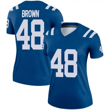 Women's Nike Indianapolis Colts Billy Brown Brown Royal Jersey - Legend