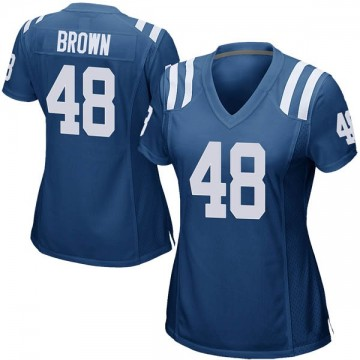 Women's Nike Indianapolis Colts Billy Brown Royal Blue Team Color Jersey - Game