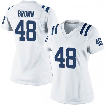 Women's Nike Indianapolis Colts Billy Brown White Jersey - Game