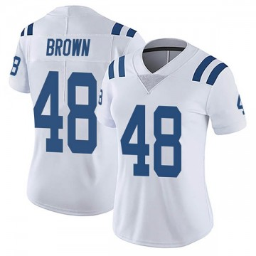 Women's Nike Indianapolis Colts Billy Brown White Vapor Untouchable Jersey - Limited