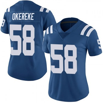 Women's Nike Indianapolis Colts Bobby Okereke Royal Team Color Vapor Untouchable Jersey - Limited