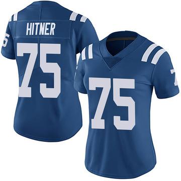 Women's Nike Indianapolis Colts Brandon Hitner Royal Team Color Vapor Untouchable Jersey - Limited
