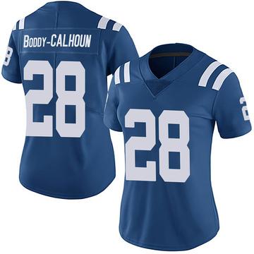 Women's Nike Indianapolis Colts Briean Boddy-Calhoun Royal Team Color Vapor Untouchable Jersey - Limited