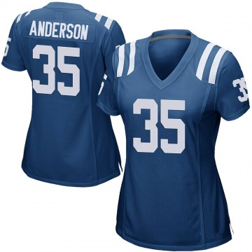 Women's Nike Indianapolis Colts Bruce Anderson Royal Blue Team Color Jersey - Game