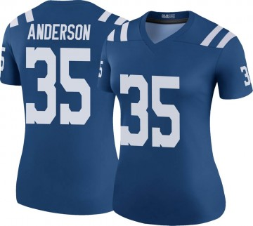 Women's Nike Indianapolis Colts Bruce Anderson Royal Color Rush Jersey - Legend