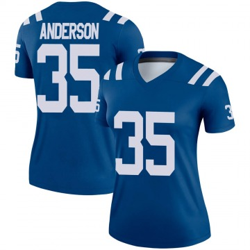 Women's Nike Indianapolis Colts Bruce Anderson Royal Jersey - Legend
